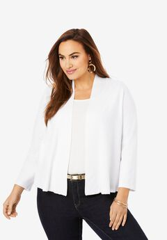 Cardigan Peplum Shrug,
