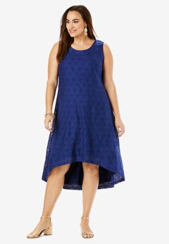High-Low Lace Tank Dress,
