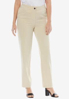 Straight Leg Bi-Stretch Pants,