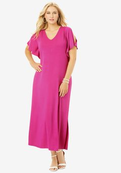 Cold Shoulder Maxi Dress,