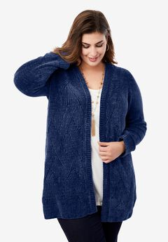 Chenille Cardigan Sweater,