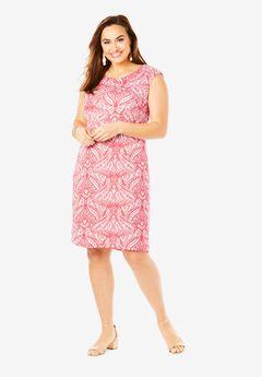 Linen Sheath Dress,