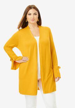 Bell Sleeve Cardigan Sweater,