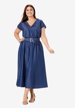 Belted Tencel® Dress,