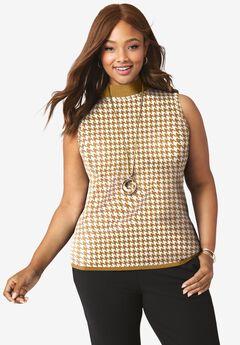 Fine Gauge Mockneck Sweater,