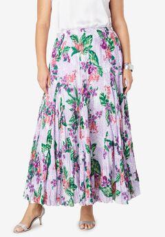 Cotton Crinkled Maxi Skirt,
