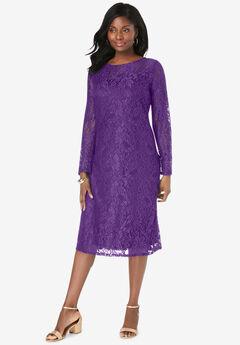 Lace Shift Dress,