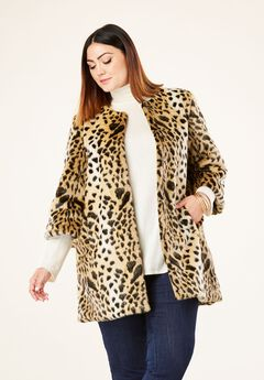Faux Fur Leopard Coat by Donna Salyers Fabulous-Furs®,