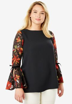 Embroidered Lace Blouse,