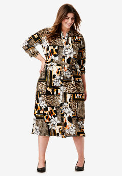 Belted Shirt Dress,