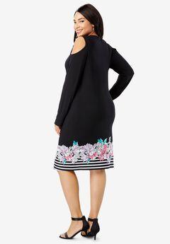 Cold Shoulder Sheath Dress,