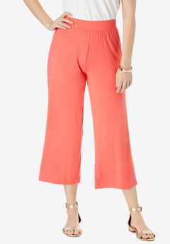 Everyday Knit Wide-Leg Crop Pant,