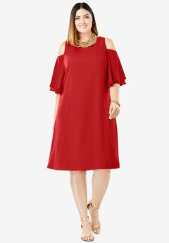 Cold Shoulder Dress,