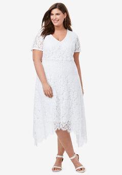 Lace Handkerchief Dress,