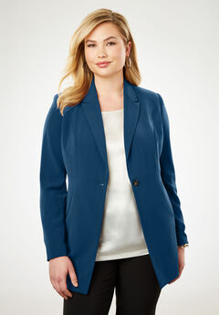 Bi-Stretch Blazer, TWILIGHT TEAL