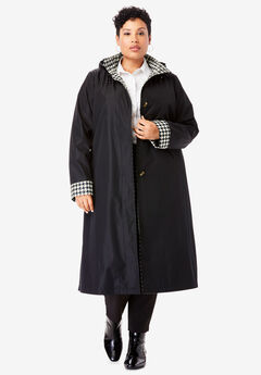 Long Hooded Raincoat,