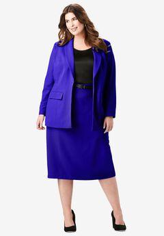 Single-Breasted Skirt Suit, TWILIGHT BLUE