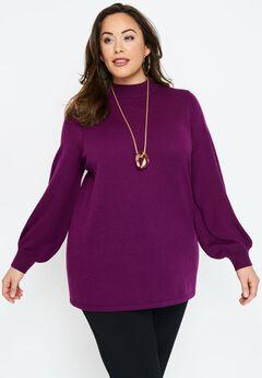 Blouson Sleeve Sweater,