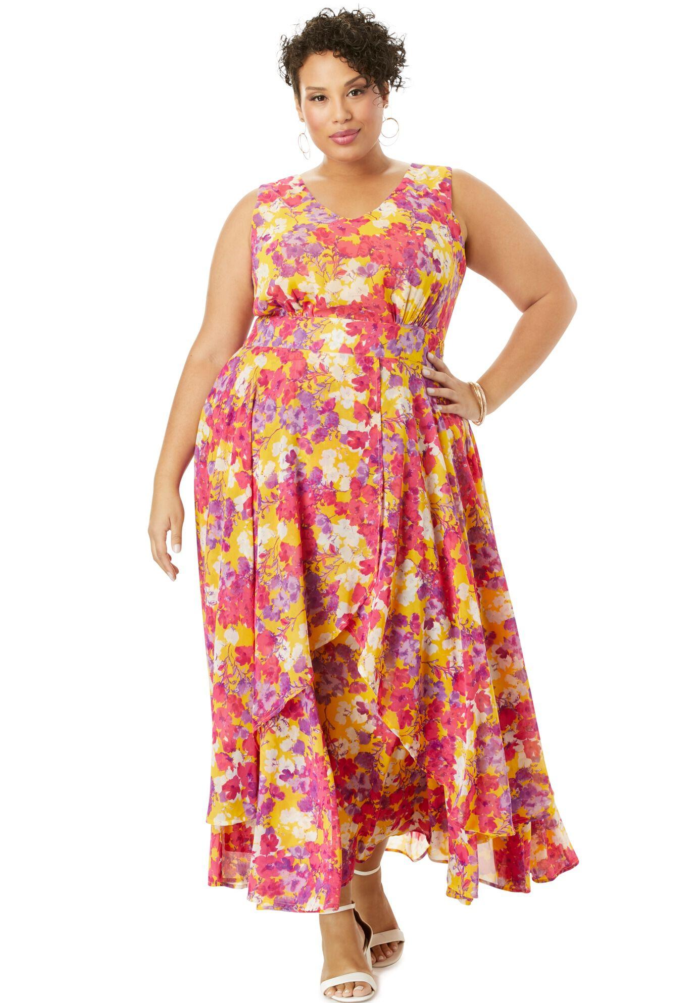 kleider woman within maxi dress plus size 22/24 26/28 30/32