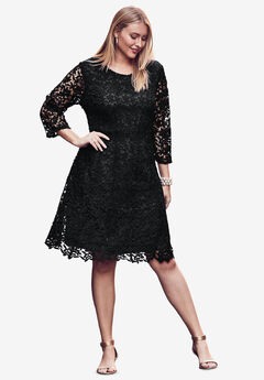Lace Fit & Flare Dress,