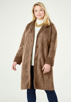 Faux Shearling Coat,