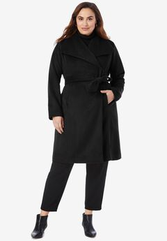 Belted Wool-Blend Coat,