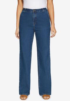 True Fit Wide Leg Jeans,