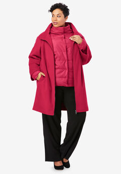 3-in-1 Puffer Coat, CLASSIC RED