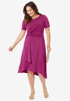 Asymmetrical Hem Dress,