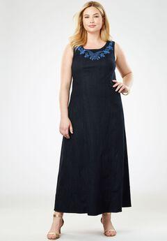 b4ad27a93da Denim Maxi Dress. Jessica London