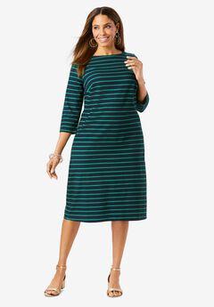 Boatneck Shift Dress,