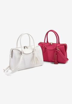 Rectangular Crossbody Bag, WHITE