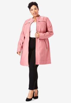 ¾-Length Leather Jacket,