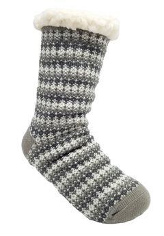 Allover Fairisle Slipper Sock Slipper Socks,