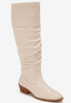 The Lucille Wide Calf Boot by Comfortview®, WINTER WHITE