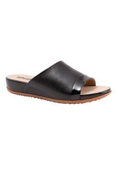 Del Mar Sandals by SoftWalk®, BLACK PATENT, hi-res