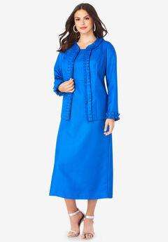 Pleated Jacket Dress,