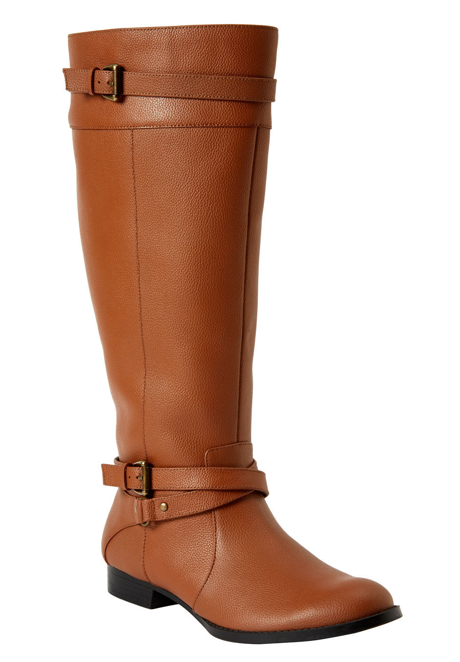 The Janis Wide Calf Leather Boot