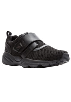 Stability X Strap Sneakers by Propet®, BLACK, hi-res