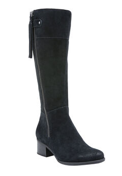 Demi Wide Calf Boots by Naturalizer®, BLACK, hi-res
