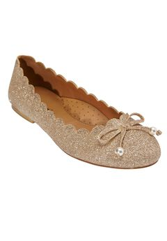 The Lizabeth Flat by Comfortview®, GOLD METALLIC, hi-res