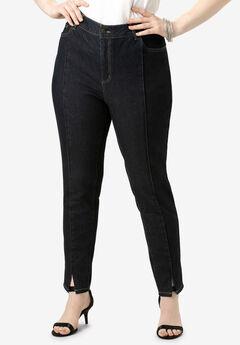 Pintucked Skinny Jean By Denim 24/7®,