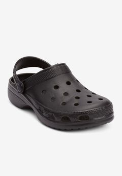 The Rubber Clog , BLACK