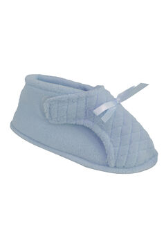 Micro Chenille Adjustable Slipper by Muk Luks®, BLUE, hi-res