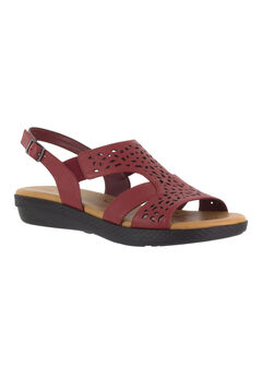 Bolt Sandals by Easy Street®, RED, hi-res