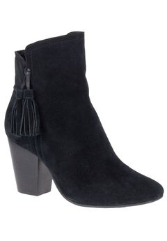 Daisee Billie Booties by Hush Puppies®, BLACK SUEDE, hi-res