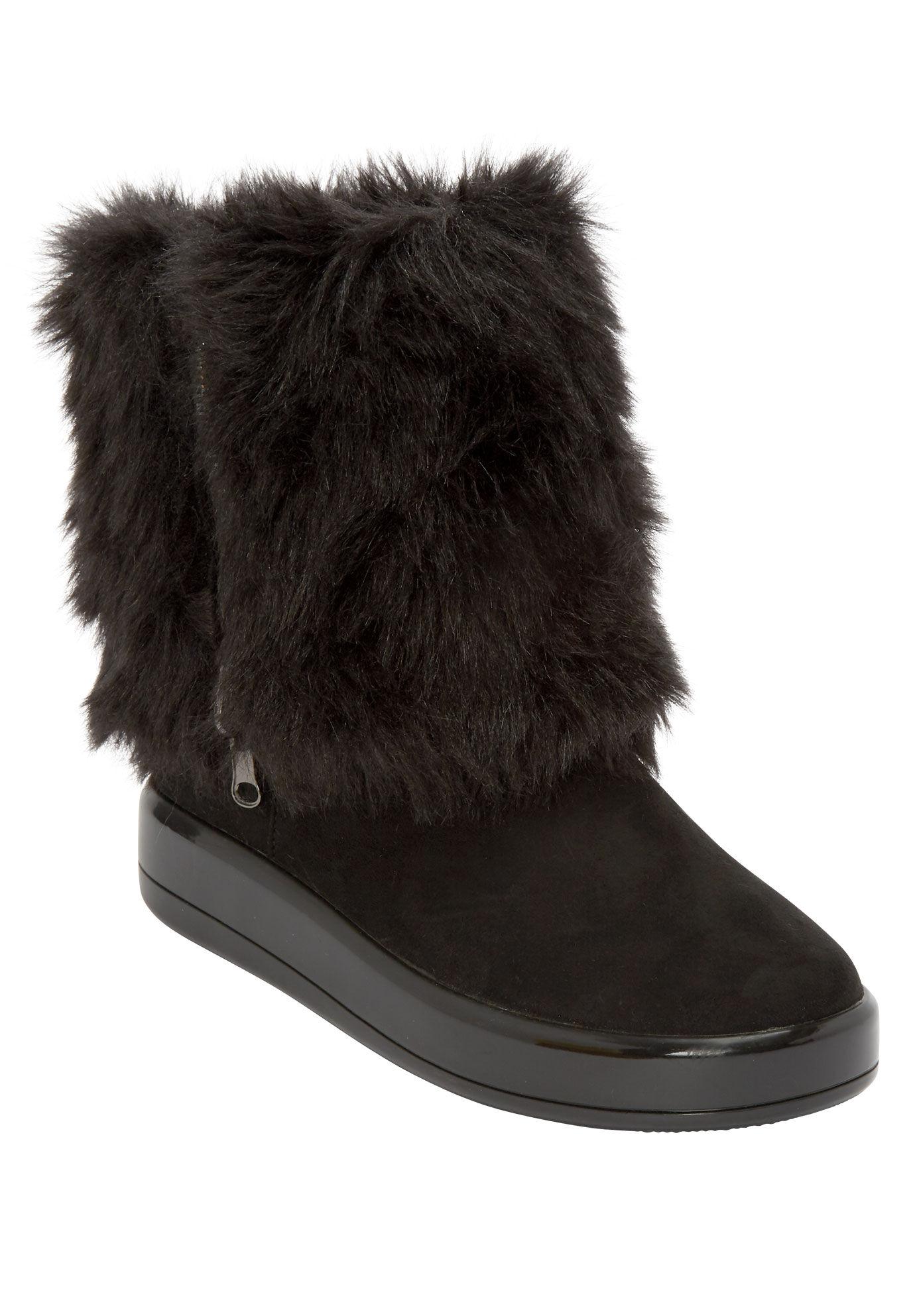 Wide Calf Warm Winter Boots for Women