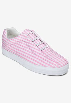 The Bungee Sneaker by Comfortview®, PINK GINGHAM
