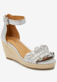 The London Espadrille by Comfortview®, SILVER