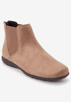 The Deliah Bootie by Comfortview®, DARK TAUPE